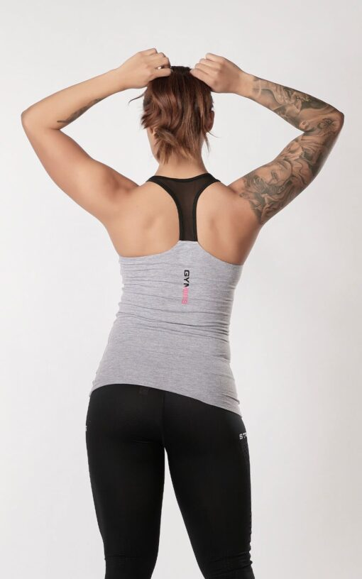 FITNFEMALE TANK MESH - Grey 2