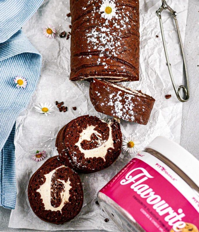 Schoko Biskuit Roulade 1